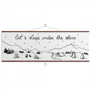 Plakat - Let's sleep under the stars 90x30 cm