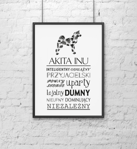 Plakat Typograficzny Akita